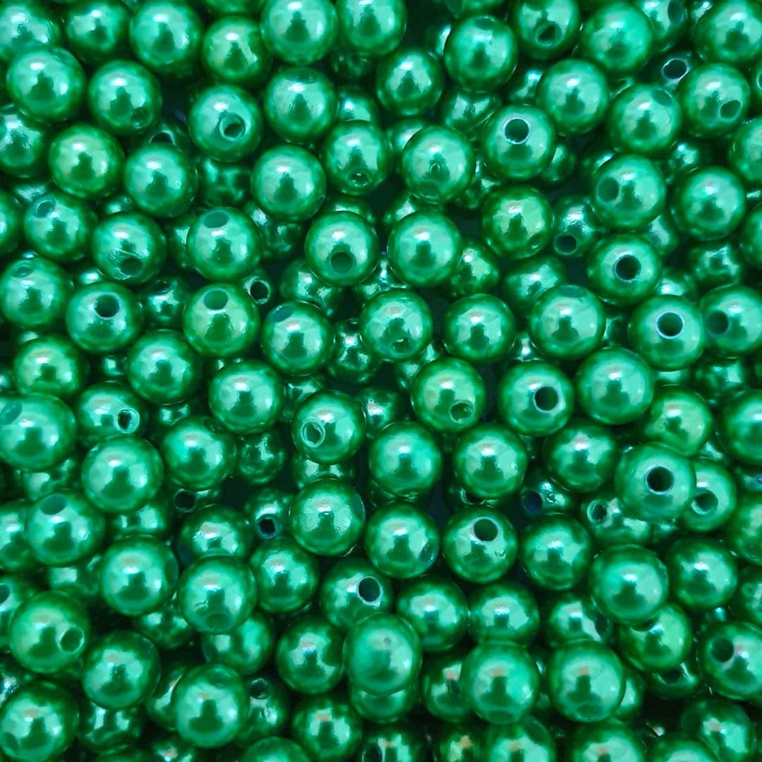 Pérola Inteira ABS 8mm 50g (Verde Natal)