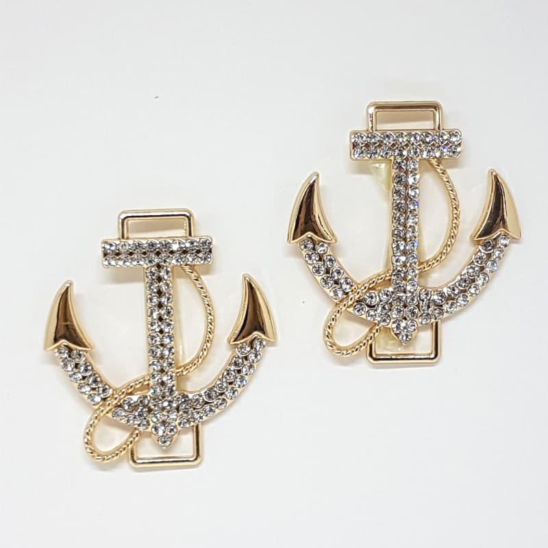 Piercing Âncora Strass G (Dourado)