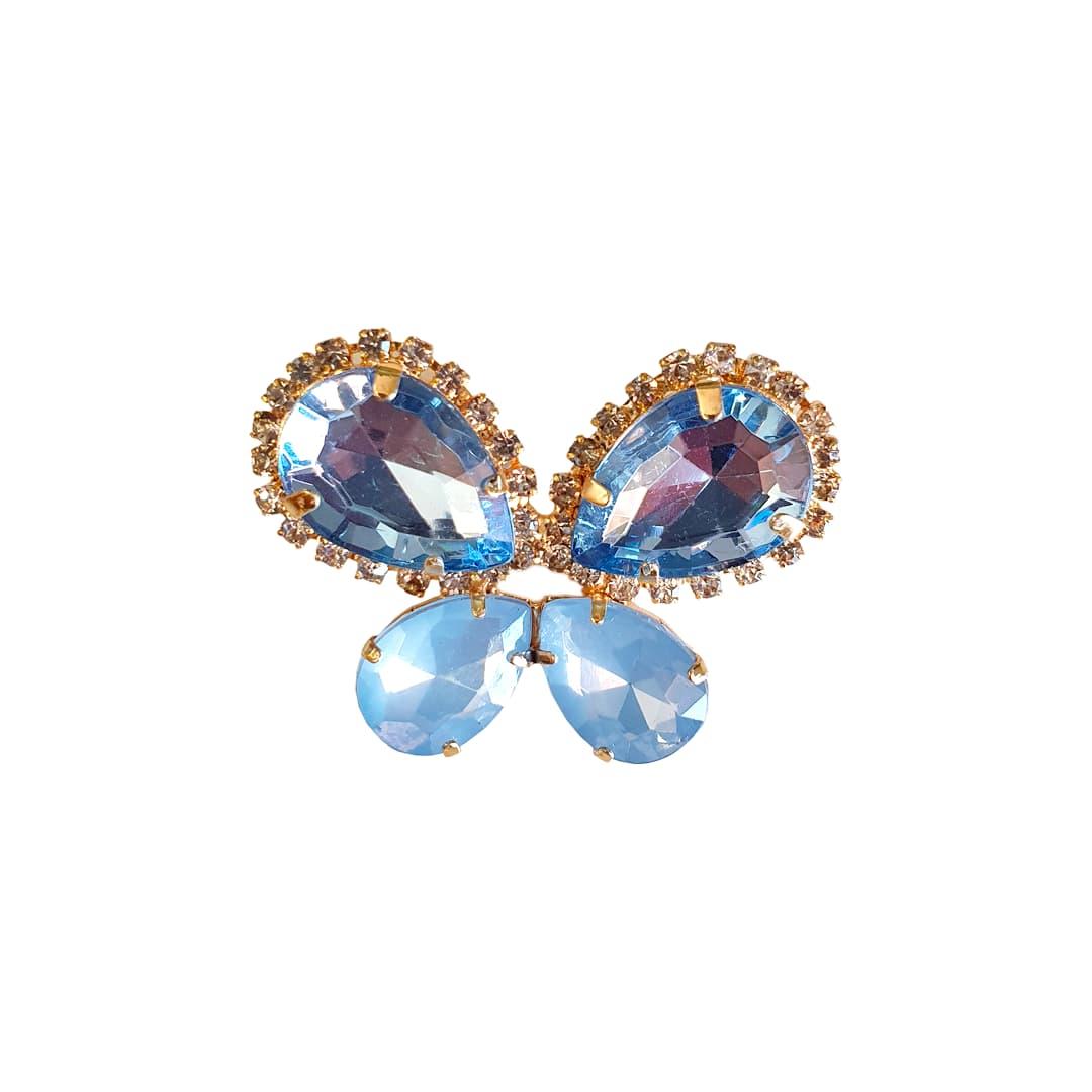 Piercing Preciosa Borboleta Mesclado (Azul Transparente e Azul Jateado)