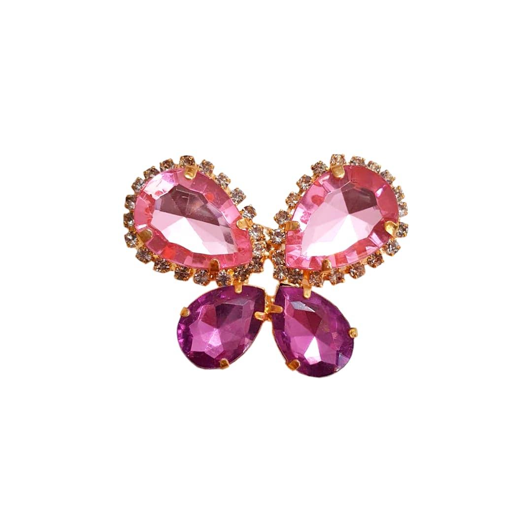 Piercing Preciosa Borboleta Mesclado (Rosa e Roxo)