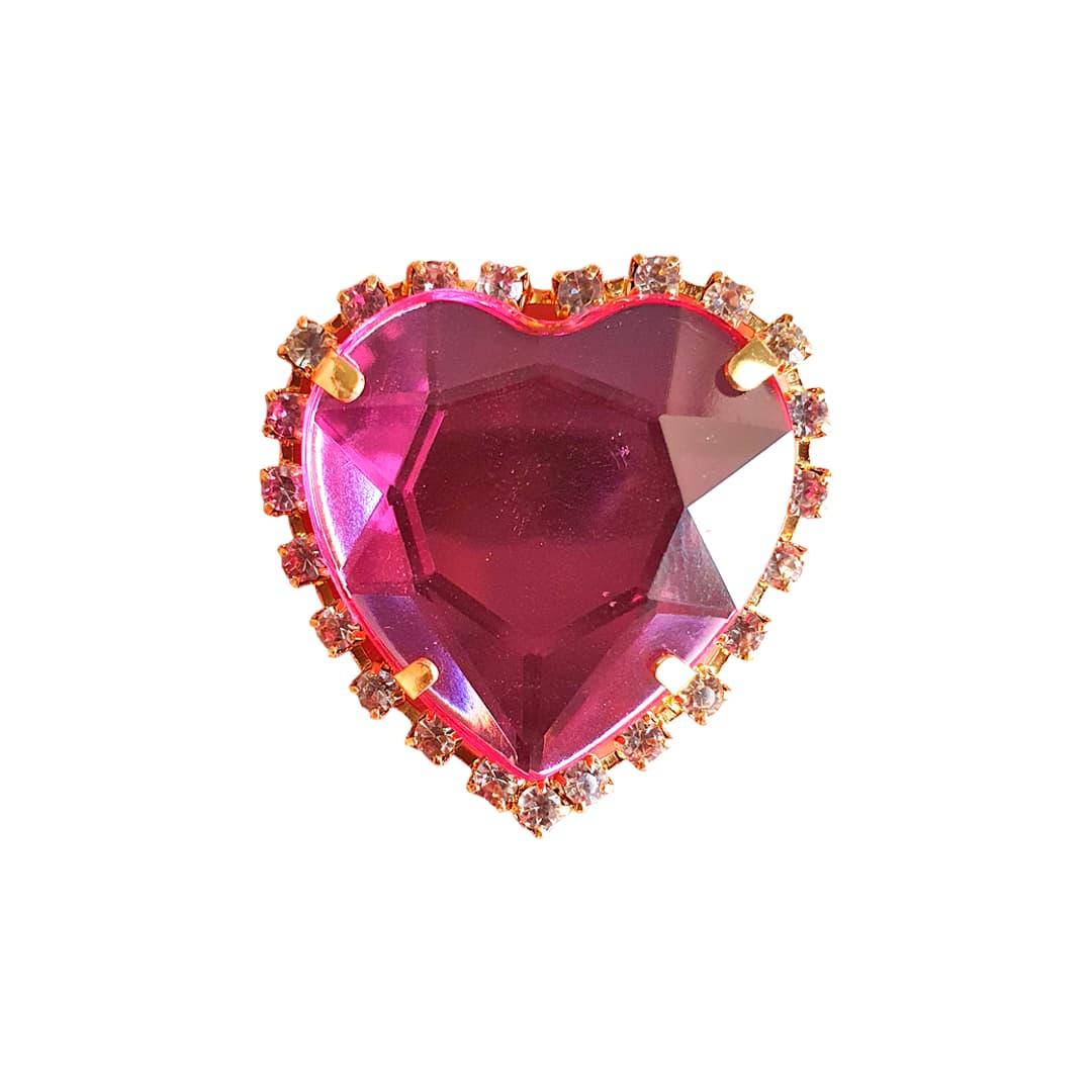 Piercing Preciosa Coração (Rosa)