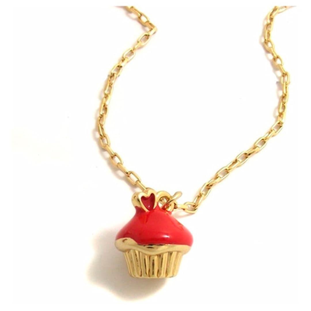 Pingente Metal Cupcake 14mm (Dourado)