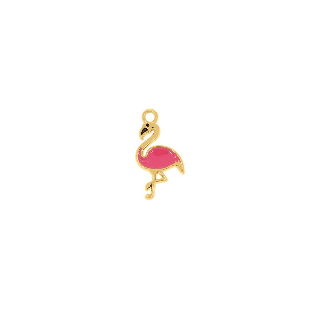 Pingente Metal Flamingo 22cm (Dourado)