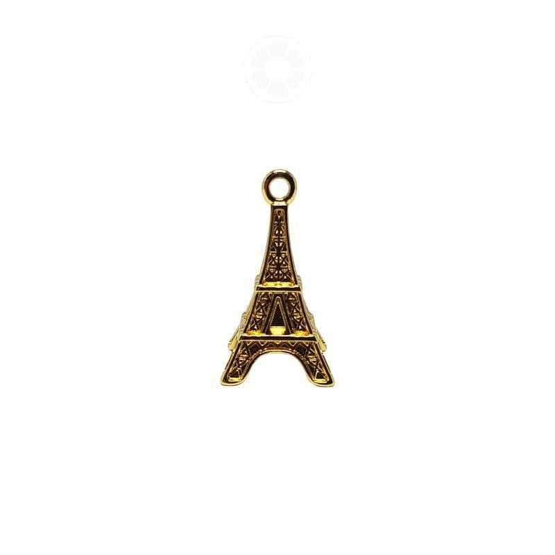 Pingente Metal Torre Eiffel 28mm (Dourado)