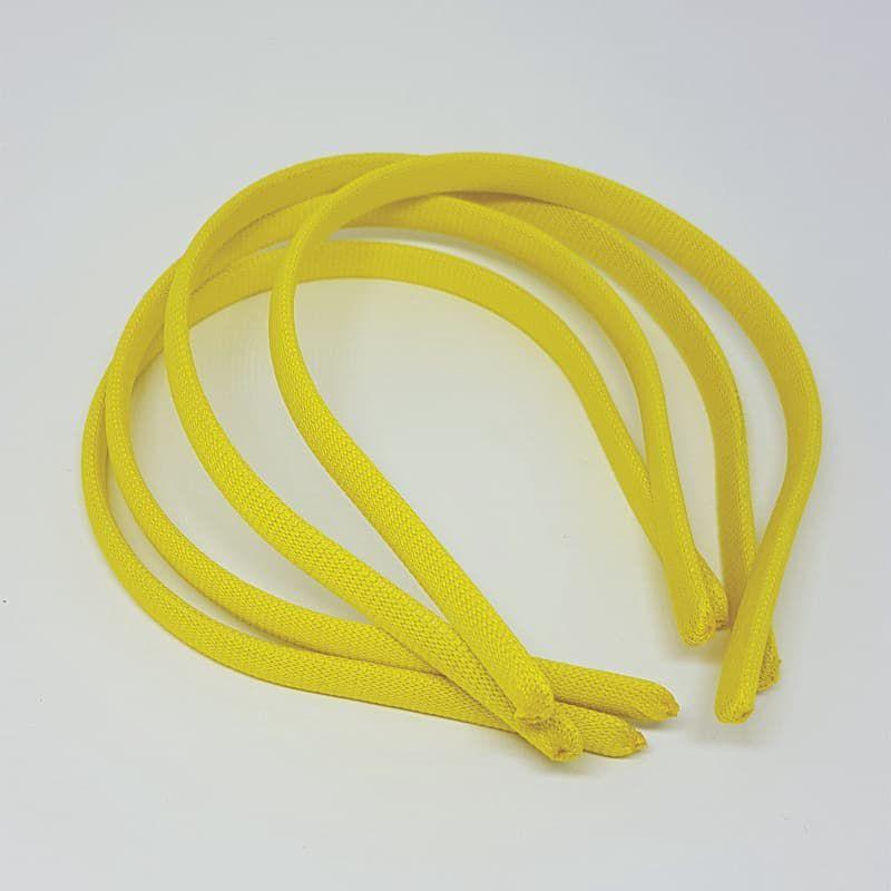 Tiara/ Arquinho Encapado 10mm 4un (Amarelo)