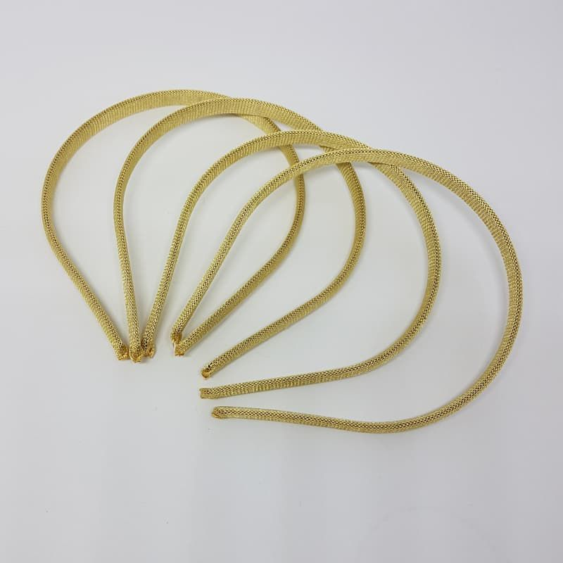 Tiara/ Arquinho Encapado 10mm 4un (Dourado)