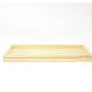 Bandeja Madeira Pinus Rústica para 4 peças 12 por 40 cm