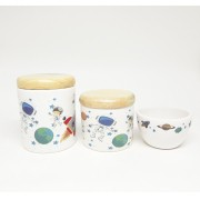 Kit Higiene Bebê Cerâmica Astronauta Pinus
