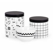 Kit Higiene Bebê Porcelana Moderninho em preto e branco / Linha Luxo