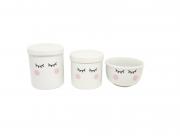 Kit Higiene Bebê Porcelana | Olhinhos Cílios | 3 peças