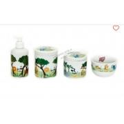 Kit Higiene Bebê Porcelana Safari Selva Bichinhos