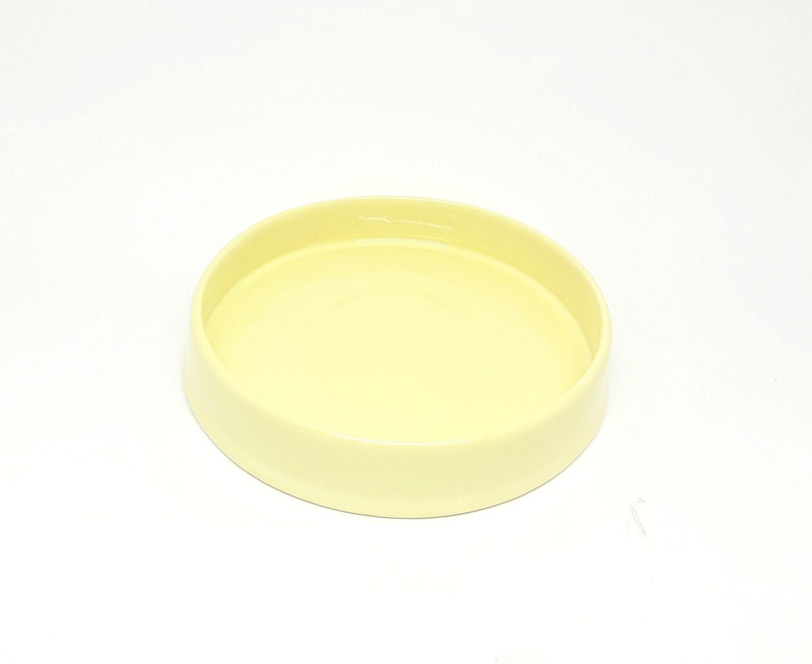 Bandeja Amarela Redonda 21 cm