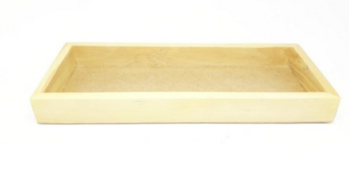 Bandeja Pinus Rústica Extra G Retangular para kit e para garrafa/moringa