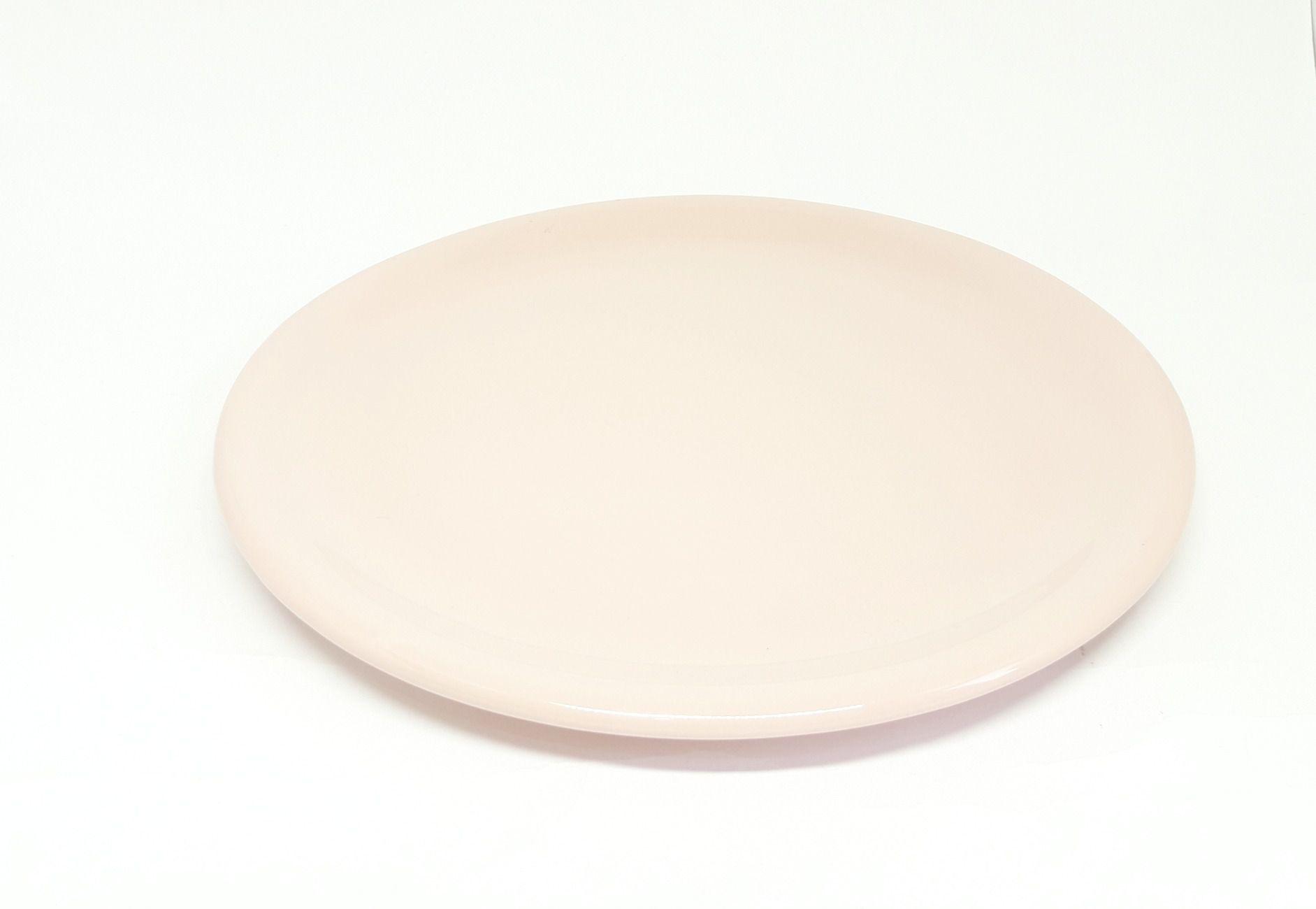 Bandeja Redonda em Cerâmica Rosa Velho para Kit e para Garrafa 30 cm