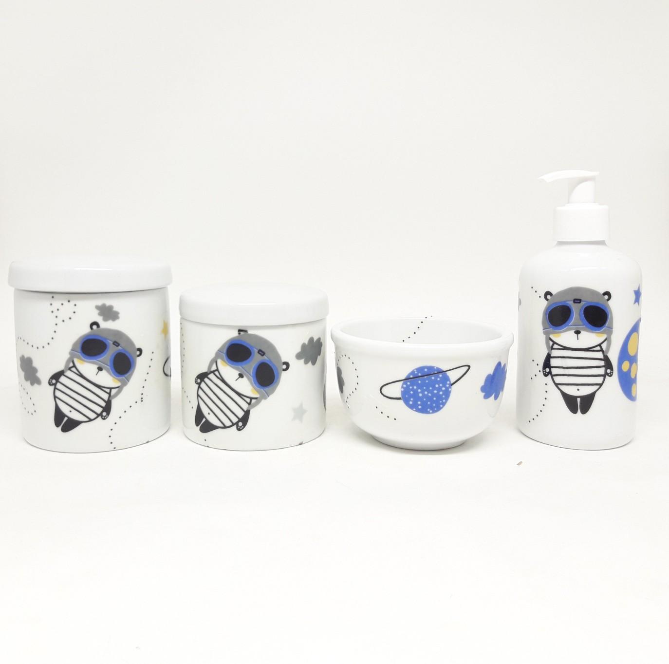 Kit Higiene Bebê Porcelana Astronauta e Planetas