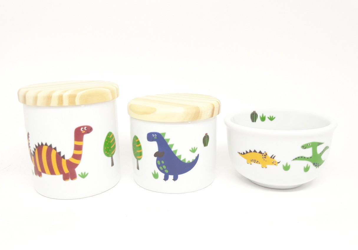 Kit Higiene Bebê Porcelana Dinossauros