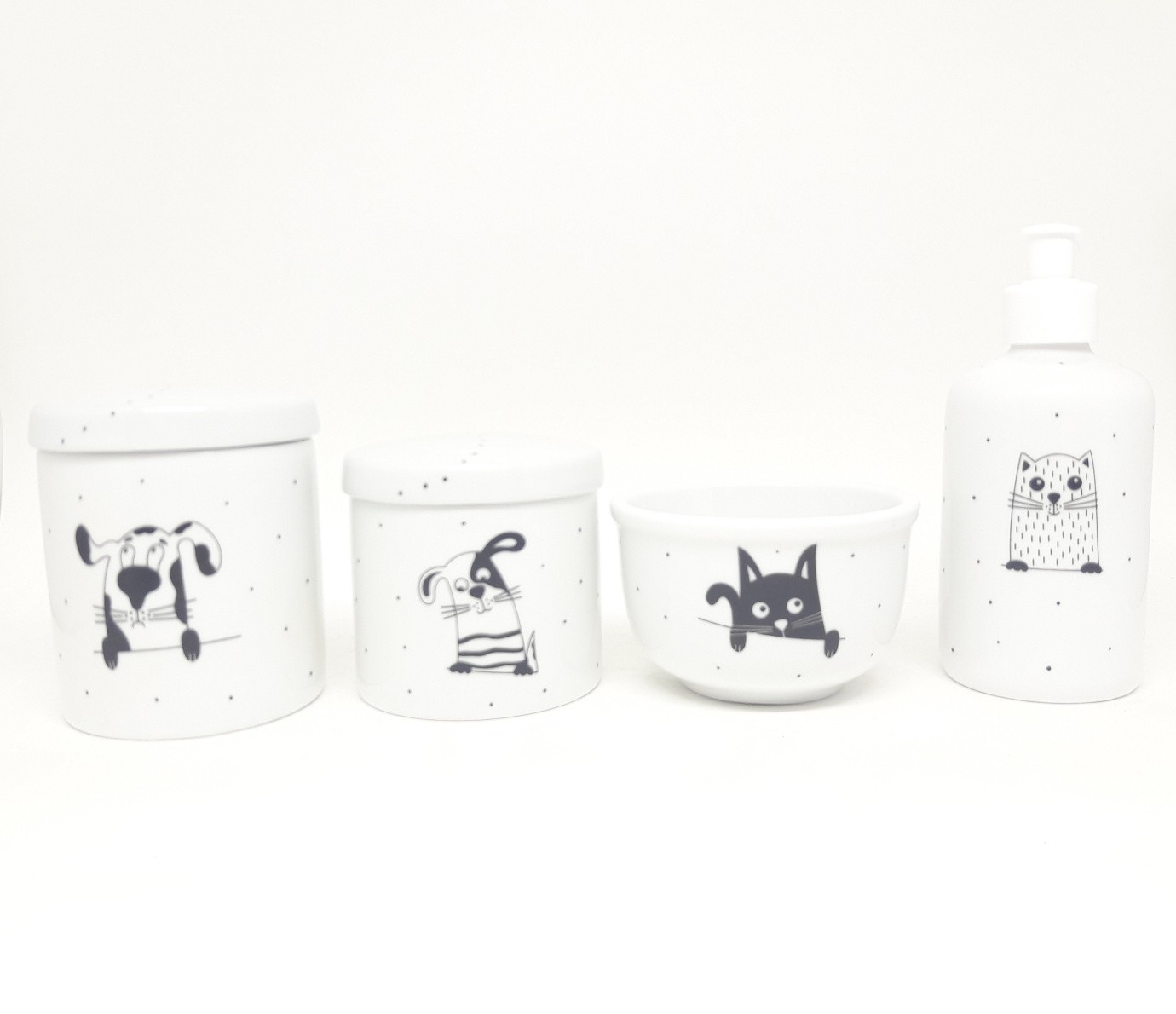 Kit Higiene Bebê Porcelana Escandinavo Bichinhos