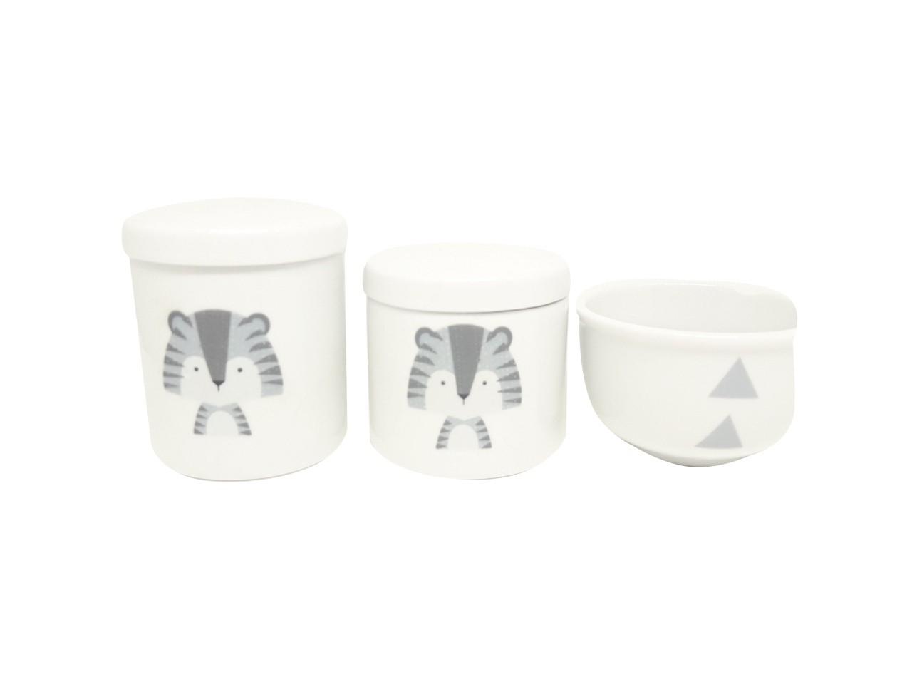 Kit Higiene Bebê Porcelana Escandinavo Tigre