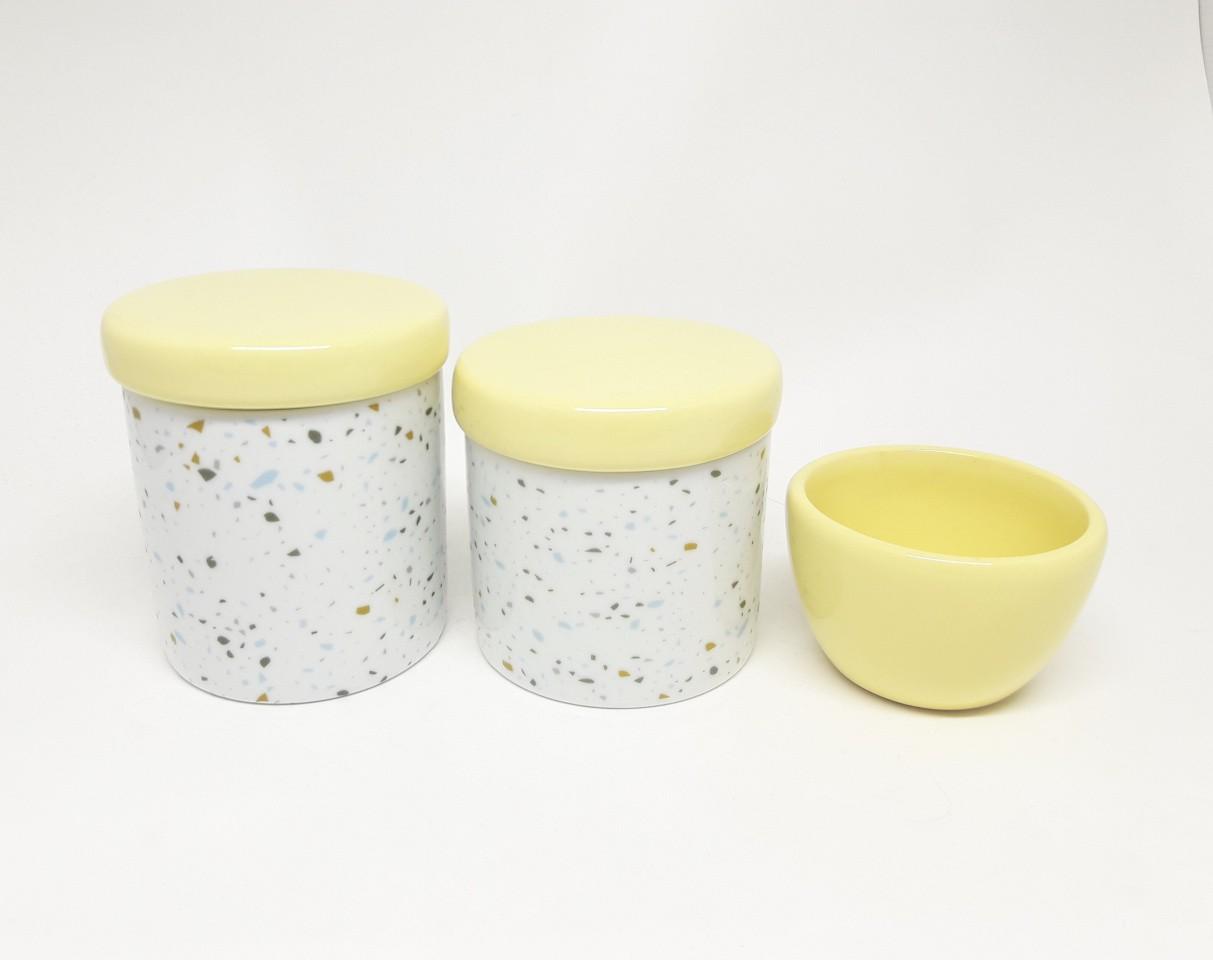 Kit Higiene Bebê Porcelana Granilito 3 peças