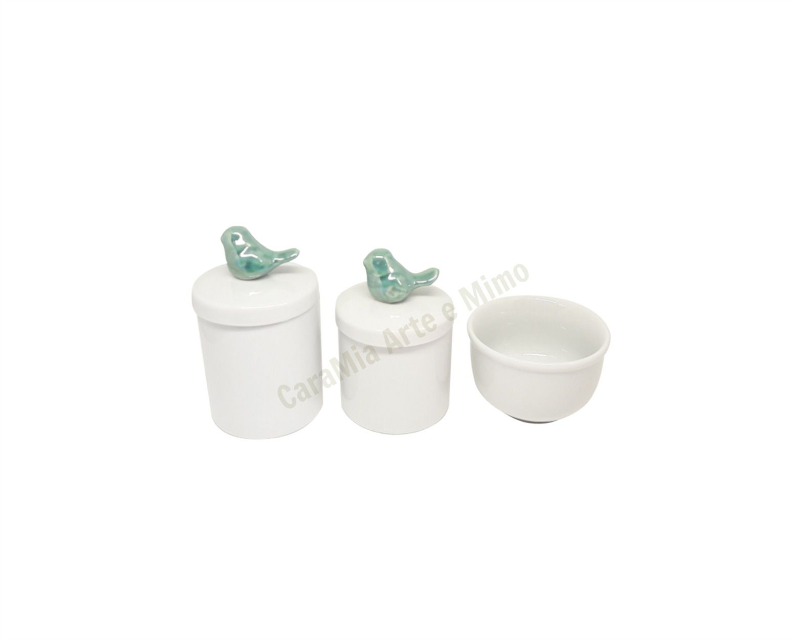 Kit Higiene Bebê Porcelana | Pássaros Tifanny| 3 peças