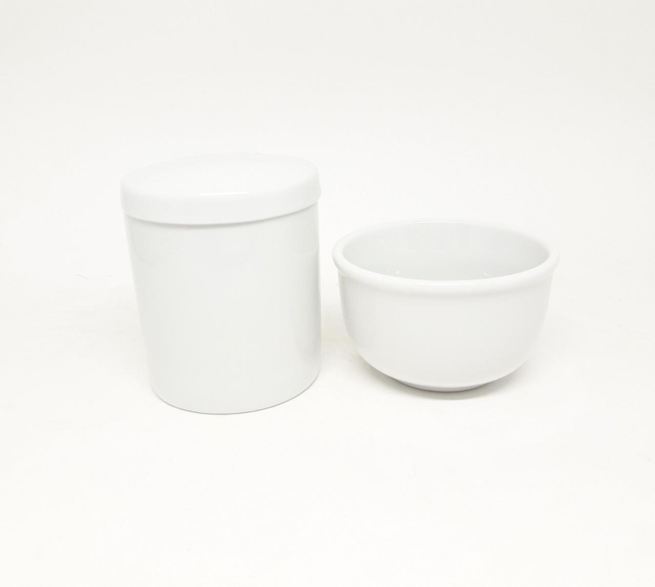 Kit higiene bebê porcelana Pote G e molhadeira