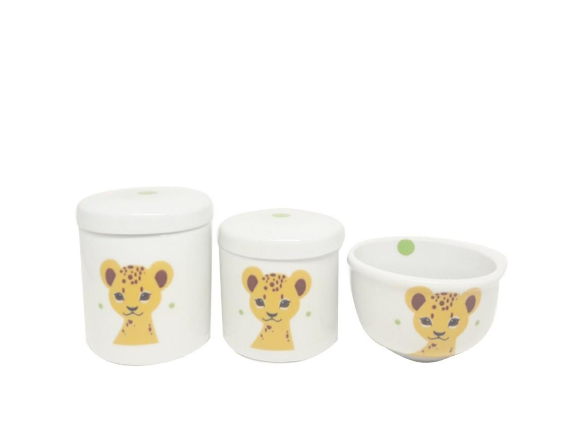 Kit Higiene Bebê Porcelana Safari Bichinhos Floresta Selva