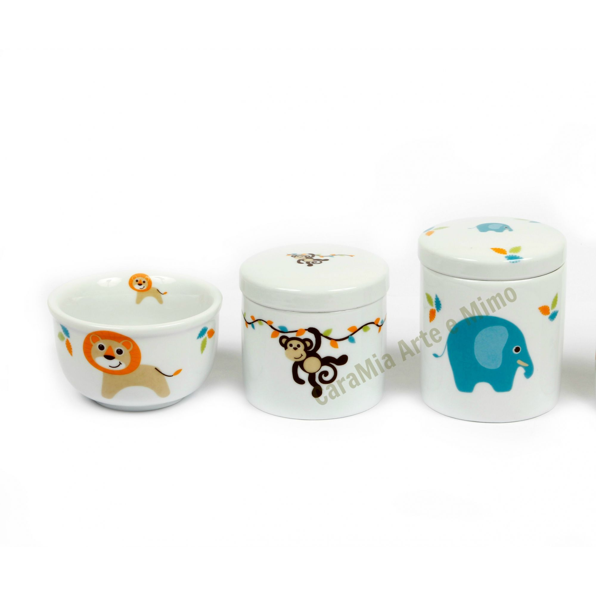 Kit Higiene bebê Porcelana  Safari | Selva | Bichinhos | 3 peças