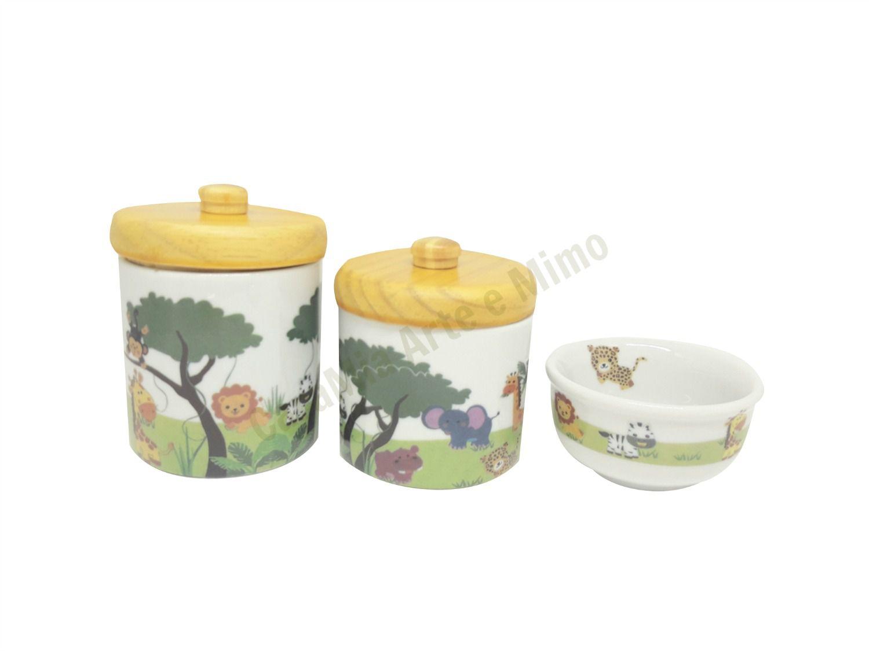 Kit Higiene Bebê Porcelana | Safari | Selva | Bichinhos| Animais da Floresta