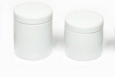 Kit Higiene em Porcelana  do Bebê ou  Kit Banheiro 2 potes | Algodão e Cotonetes