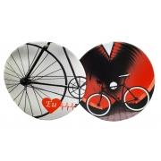 2 Mouse pad redondo bicicleta ou Ciclista Art Bike