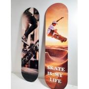 2 Placas Decorativas Shape Skate Lovers + Chaveiro presente