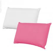 Capa para Travesseiro Rosa / Branca