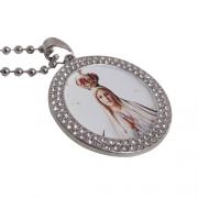 Colar Pingente Personalizado Nossa Senhora de Fátima ou de Guadalupe
