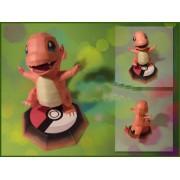 Impressão de Quebra-Cabeça 3D Pokemon Charmander Paper Craft