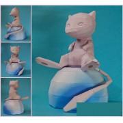 Impressão de Quebra-Cabeça 3D Pokemon Mew Paper Craft