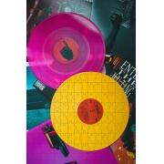 Kit 3 quebra-cabeças Nostalgia Vintage disco de vinil 90 peças
