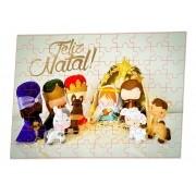 Kit Arvore de natal Jingle personalizada + Quebra-cabeças 60 peças Familia
