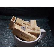 Kit Caneca e Pendrive Wood Slim  - Pendrive para Fotógrafos - 4 GB, 8 GB e 16 GB