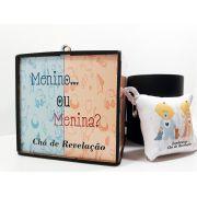 Kit Caneca Revelação + Caixa MDF + Almochaveiro - Chá de Revelação