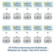 Kit Folhas Impressão Etiquetas para Roupas A4 - Faça Você Mesmo