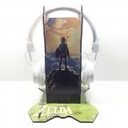 Kit Games - Suporte de Headset Zelda + Fone de Ouvido