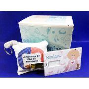 Kit Pencard 4 GB + Chaveiro e Caixa Personalizados Chá Revelação - 4 GB
