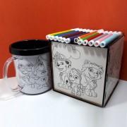 Kit Pintar Criativo – Caixa desenhada para Colorir com Canetinha - KitPC-007