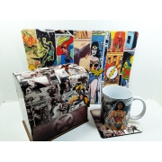 Kit Presente Dia dos Pais Nerd Quadrinhos + Caneca + Mouse Pad Gamer