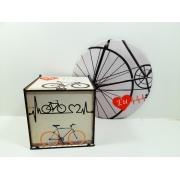 Kit Presente para Ciclistas com Mouse pad + caixa presente Art Bike