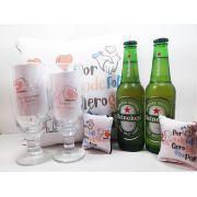 Kit Presente para Namorados Brinde ao Amor - Taças e Bebidas