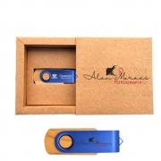 Kit Wooden Colors Kraft  8 GB - Pendrives para Fotógrafos Personalizados
