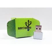 Linha rECOdrive - Pendrives Ecologicos Sustentáveis - Fit Leve 8 GB e 16 GB - Exclusivo
