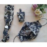 Mascara respiratória camuflada Kit Fashion - porta gel + faixa cabelo