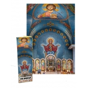 Mini quebra-cabeça Capela Arte Sacra de 120 peças